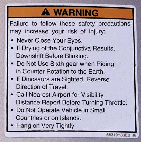 New Warning Stickers On Motorcycles Kawasaki Motorcycle Forums - Kawasaki motorcycles stickers